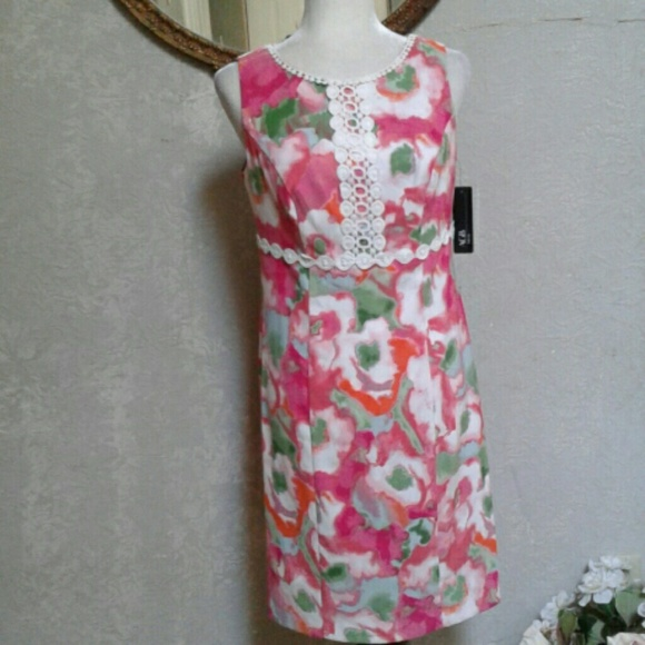 e0a87fb762 NWT AGB DRESS Floral Spring Easter Dress Women s 8